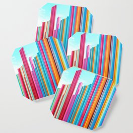 Colorful Rainbow Pipes Coaster