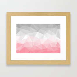 pink and grey polygon 2018 Framed Art Print