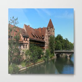 At The Pregnitz - Nuremberg Metal Print