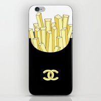 fries iPhone & iPod Skins featuring French fries by flowerstyle