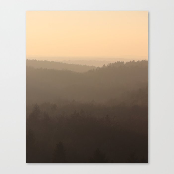 winter sky over the valley Canvas Print