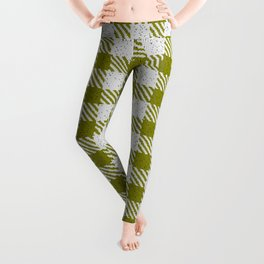 Olive Buffalo Plaid Leggings
