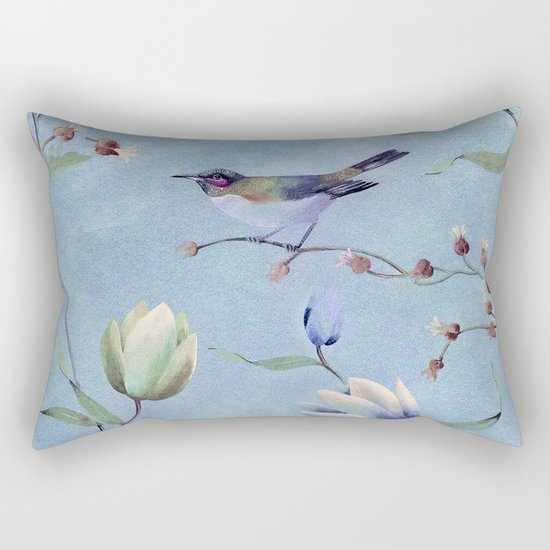 Summer bird Rectangular Pillow