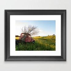 Farming Past Framed Art Print