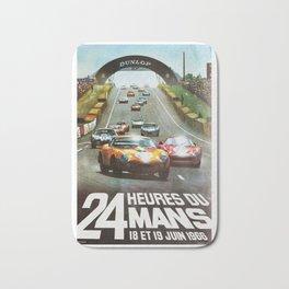1966 Le Mans poster, Race poster, car poster, garage poster Bath Mat
