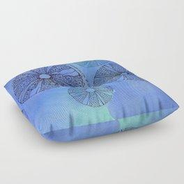 Blue Sea Urchin Floor Pillow