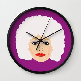 Dolly Parton - cartoon style portrait Wall Clock