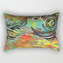 Orange green Rectangular Pillow