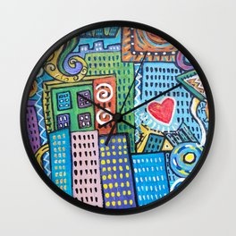 Pretty City two Wall Clock
