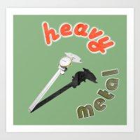 heavy metal Art Prints featuring Heavy metal by Michael Mann