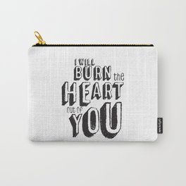 Moriarty Quote, I'll burn the heart out ouf you, Sherlock Decor Carry-All Pouch