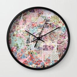 Akron map Wall Clock