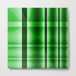 Shades of Green Lines Metal Print