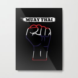Muay Thai Metal Print