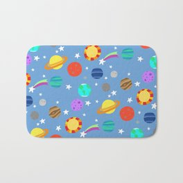 planets and stars Bath Mat