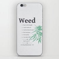 weed iPhone & iPod Skins featuring Weed by WeedPornDaily
