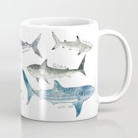 large Mugs featuring Sharks by Amy Hamilton