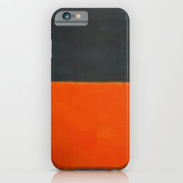 Green and Tangerine on Red - Mark Rothko iPhone Case