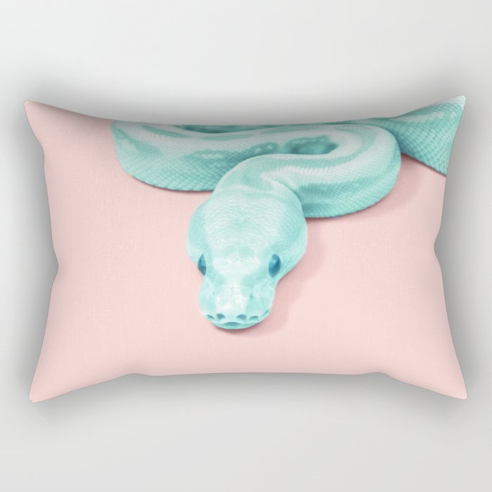 GREEN SNAKE Rectangular Pillow