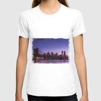 brooklyn bridge T-shirts featuring Brooklyn Bridge by hannes cmarits (hannes61)