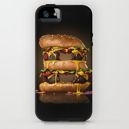 B for Burger iPhone Case