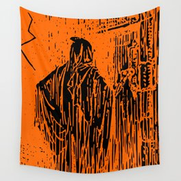 The Ghost at the Door Wall Tapestry