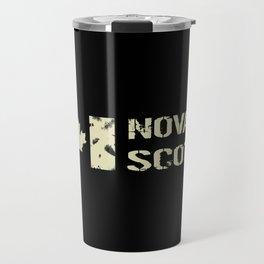Canadian Flag: Nova Scotia Travel Mug