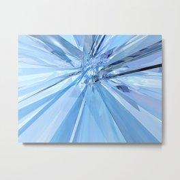 Blue Crystals Metal Print