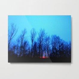 Sunset Blue Metal Print