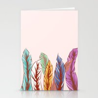 feathers Stationery Cards featuring Feathers by melcsee