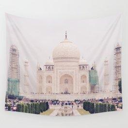 Beautiful man-made wonder Taj Mahal Wall Tapestry
