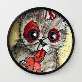 LOL zombie cat Wall Clock