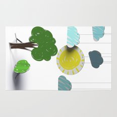 Sunny Day 3D Paper Craft Rug