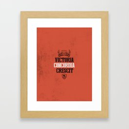 Arsenal Motto Framed Art Print