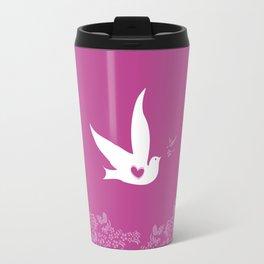 Love and Freedom - Purple Travel Mug