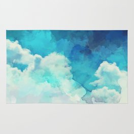 Absract Watercolor Clouds Rug