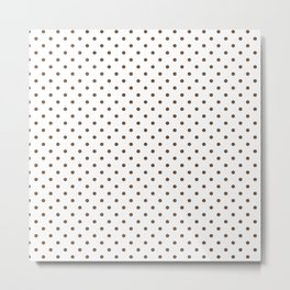 Dots (Coffee/White) Metal Print