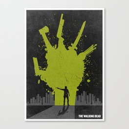 The Walking Dead Poster Canvas Print