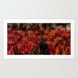 Field of Tulips Mosaic Art Print