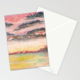 Ethereal Landscape Watercolor Illustration Stationery Cards