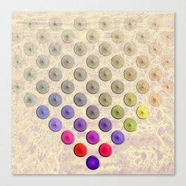 Vibrant button polka dots on texture Canvas Print
