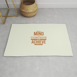 Lab No. 4 - It can Achieve Napoleon Hill Inspirational Quotes Poster Rug