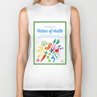 health Biker Tanks featuring Picture of Health by ColorisBrave