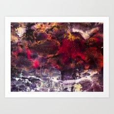 Abstract Encaustic I  /  Encaustique abstrait I  /  Encáustica abstracto I Art Print