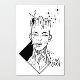 i am gro_t Canvas Print