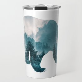 Bear of Forest and Sky Travel Mug