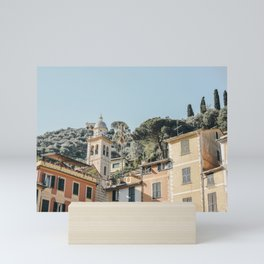 Dreamy Italian Village of Portofino, Italy | Iconic Italian travel fine art prints, European travel photography Mini Art Print