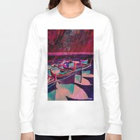 boats Long Sleeve T-shirts featuring vintage boats by  Agostino Lo Coco