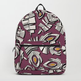 deco feathers ruby saffron Backpack