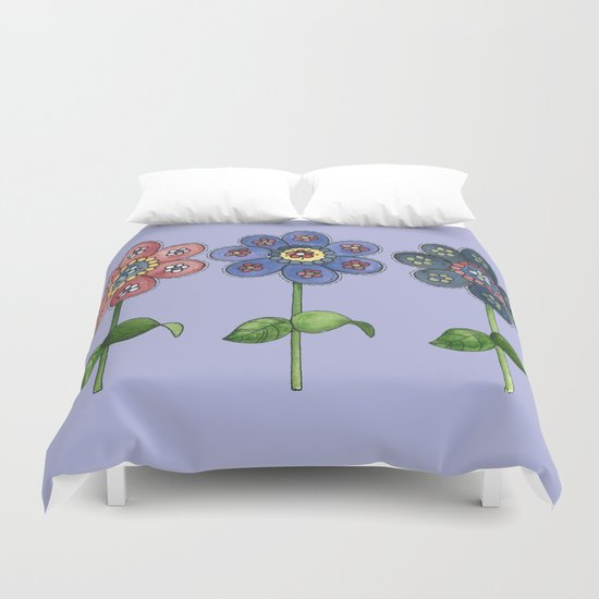 Flower Row Duvet Cover